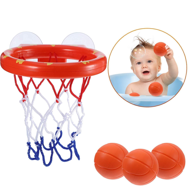 Fun Basketball Hoop /& Balls Playset for Little /& Cozy Bospin Toddler Bath Toys