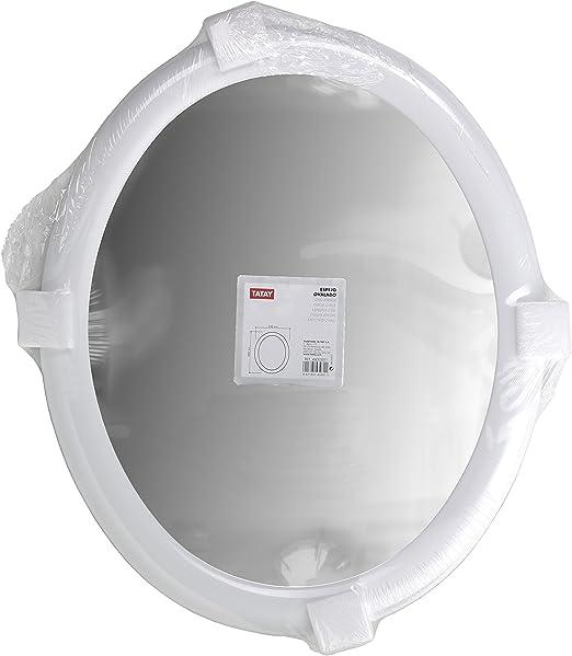 Espejo Ovalado Color Blanco 600 x 500, ABS, Talla /única Tatay