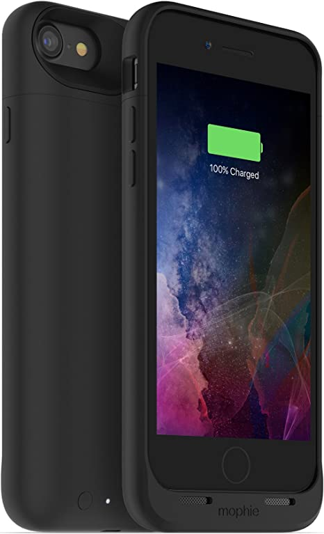mophie Juice Pack Air Battery Case, Compatible with Wireless Qi Charging for Apple iPhone 7, 27 Hours Battery Life Black