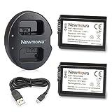 Newmowa FW50 Batteria (confezione da 2) e Doppio Caricatore USB per Sony FW50 e Sony Alpha a3000, Alpha a5000, Alpha a6000, Alpha 7, a7, Alpha 7R, a7R, Alpha 7S, a7S, NEX-3, NEX-3N, NEX-5, NEX-5N, NEX-5R, NEX-5T, NEX-6, NEX-7, NEX-C3, NEX-F3, SLT-A33, SLT-A35, SLT-A37, SLT-A55V, Cyber-shot DSC-RX10