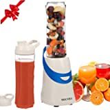 Secura 300W Personal Blender for Shakes and Smoothies   Stainless Blade   2 (20 oz) Single Serving Bottles with Travel Lids