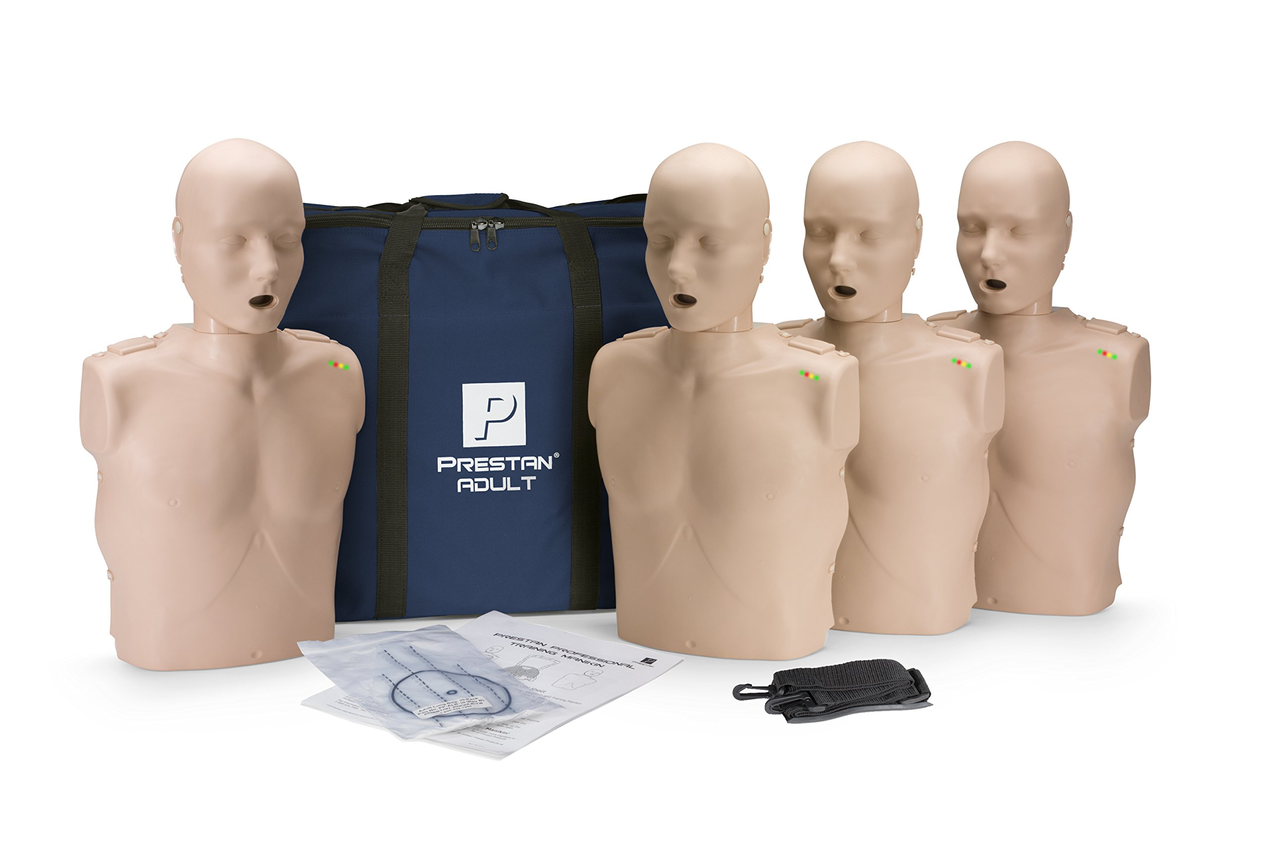 Prestan Professional Adult Medium Skin CPR-AED Training Manikin 4-Pack (with CPR Monitor) by Prestan Products