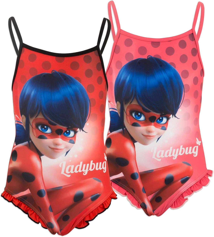 Miraculous LadyBug Cat Noir - Culetin Traje de baño - para niña ...