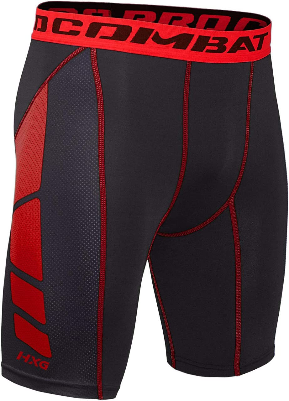 Hivexagon Men Compression Shorts Cool Dry Tights Fitness Running Sport Gym Sportwear Pants SM008