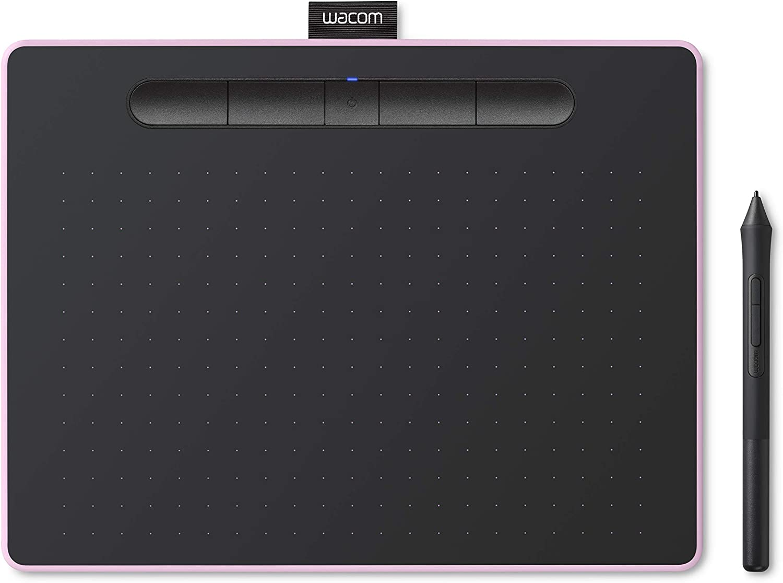 ワコム ペンタブレット Wacom Intuos Mediumワイヤレス クリスタ付き ピンク Androidにも対応 データ特典付き TCTL6100WL/P0