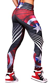 895c457aa3294 Active4U Superhero Crossfit Leggings Women Colombian Yoga Pants Compression  Tights