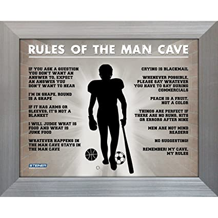 Amazon Mlb New York Yankees Man Cave Rules Picture Frame Sign