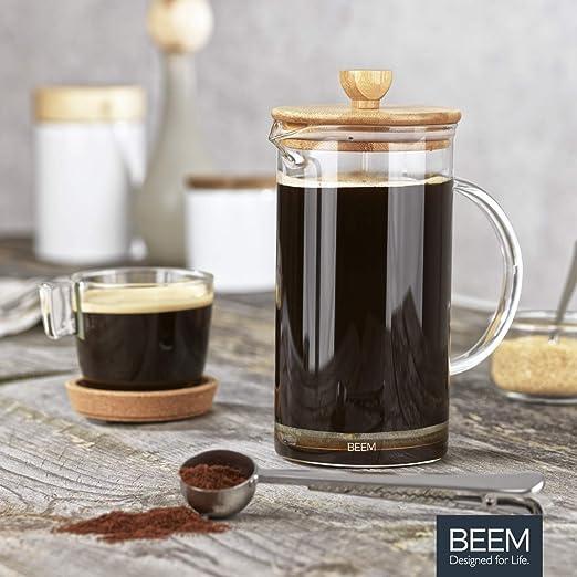 BEEM COFFEE French PRESS Kaffeebereiter Kaffeepresse 0,35l Glas 3 Tassen Bambus