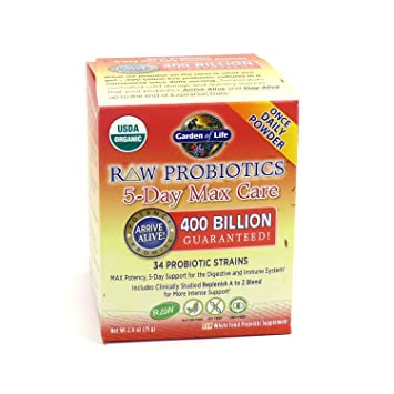 Amazoncom Garden of Life Raw Probiotics 5 Day Max Care 34