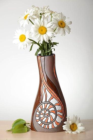 Amazon.de: Handmade Vase aus Ton Haus Deko Keramik Vase Deko ...