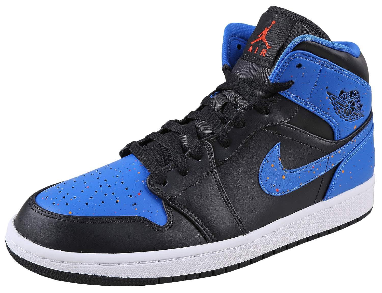 cf811e8e51a9ff AIR Jordan 1 MID  Royal Paint Splatter  - 554724-048 -  Amazon.co.uk  Shoes    Bags