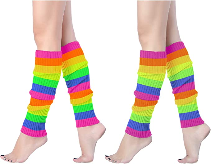 Vintage Socks | 1920s, 1930s, 1940s, 1950s, 1960s History V28 Women 80s Party Warm Costume Marathon Knit Long Socks Leg Warmers $14.99 AT vintagedancer.com