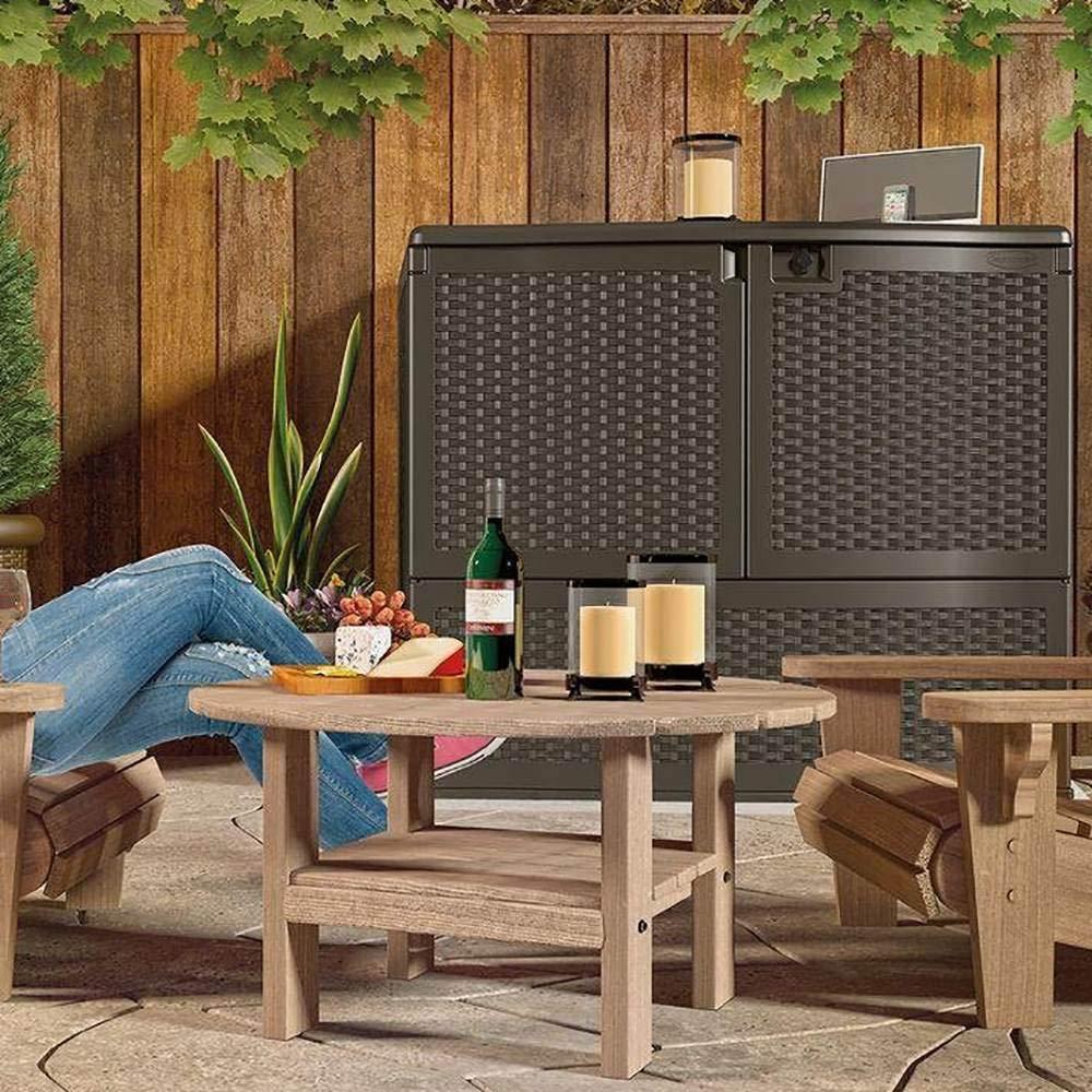 Suncast Backyard Oasis Storage And Entertaining Station ...