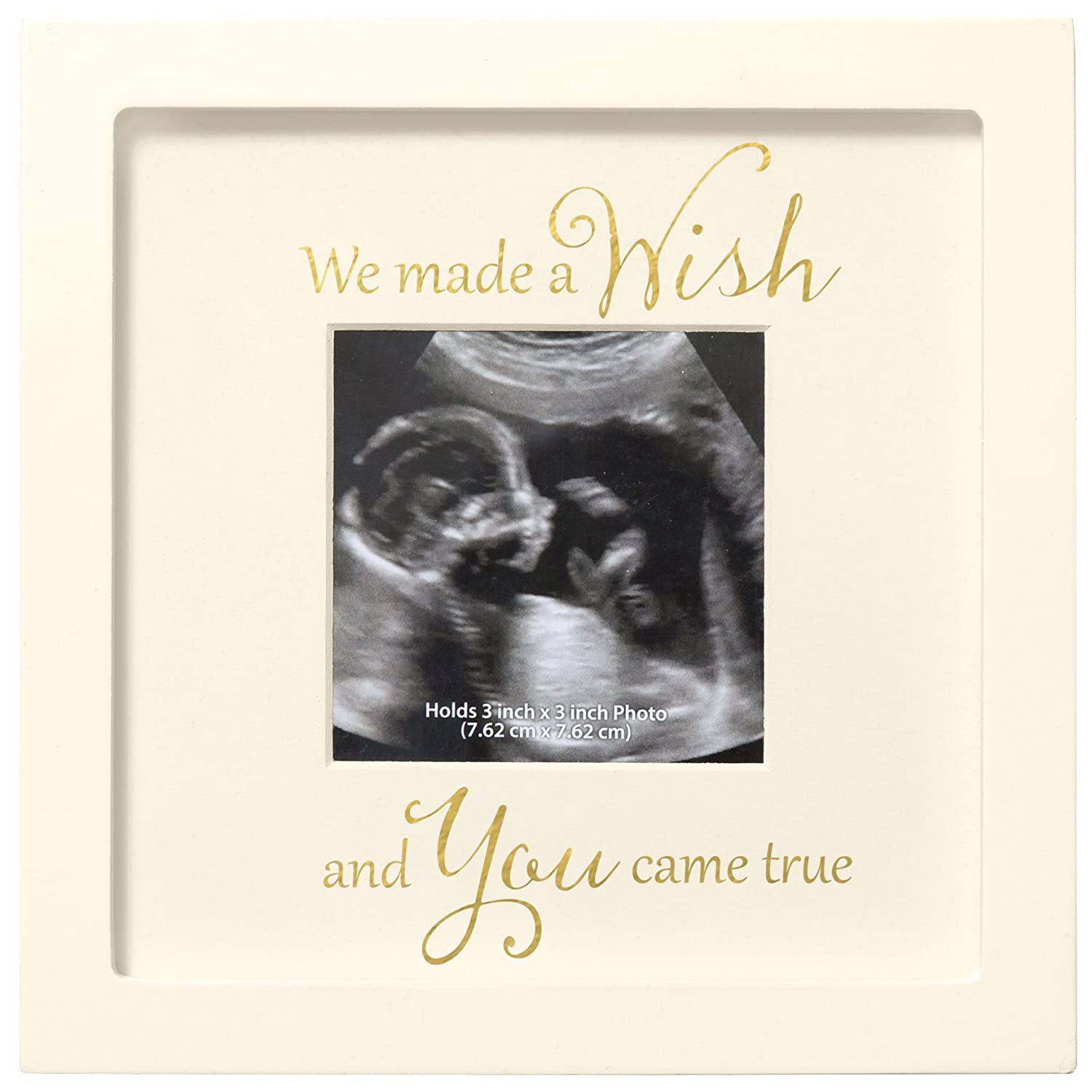 C.R. Gibson Sonogram Photo Frame, We Made A Wish BPSF-16508