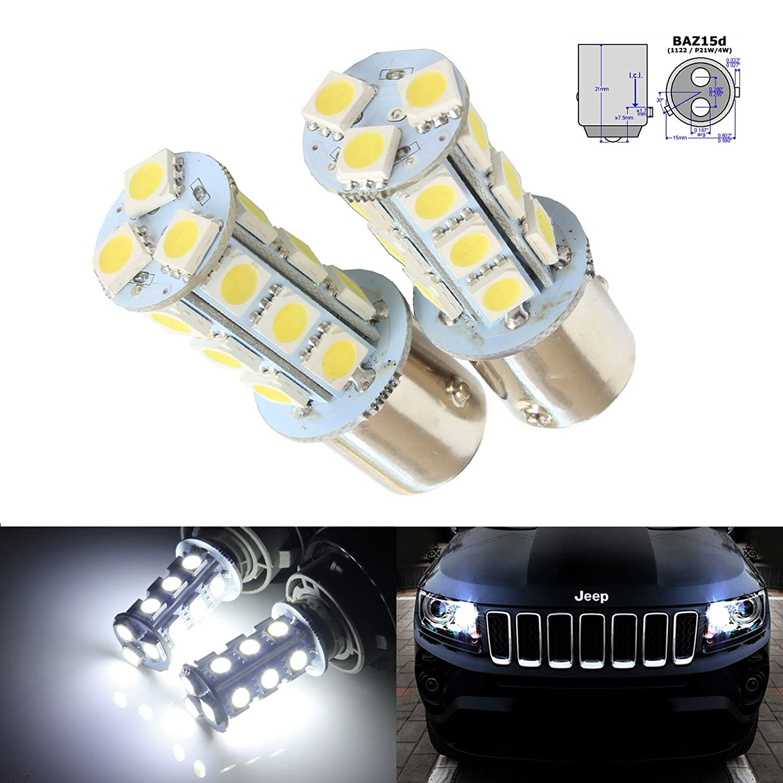 RunQiao 2 x T20 5W 21SMD Canbus LED Side Lights DRL 580 7443 Light Bulbs Orange