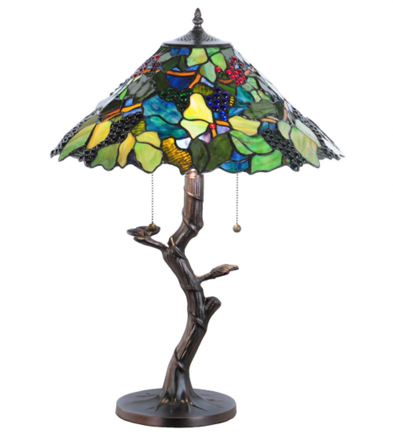 25''H Grape Harvest Table Lamp DRY