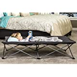 Regalo My Cot Extra Long Portable Bed, Includes Fitted Sheet, Gray