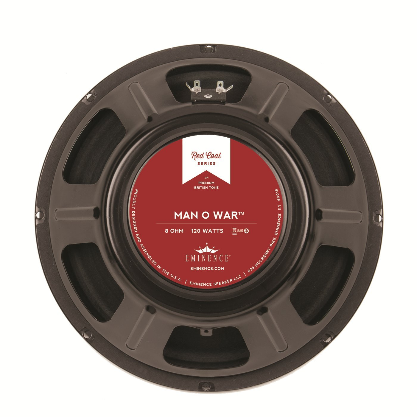 Eminence Red Coat Series Man O War 12'' Guitar Speaker, 120 Watts at 8 Ohms by Eminence (Image #1)