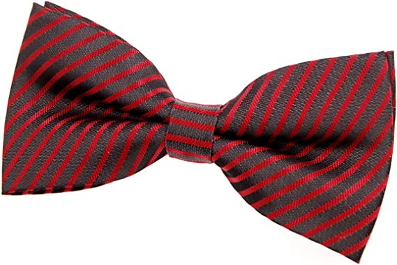 Retreez Striped Woven Pre-tied Boys Tie 4-7 years Red and White Stripe