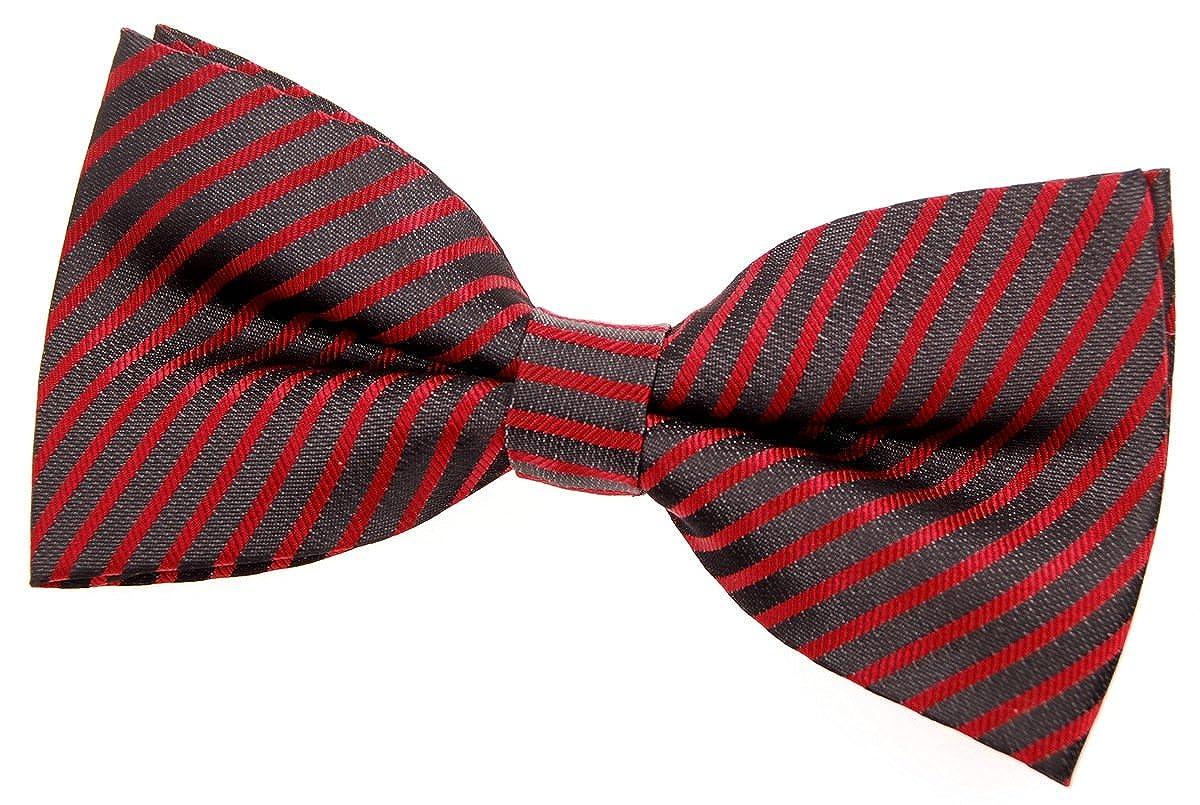 5 Various Colors Retreez Modern Stripe Woven Microfiber Pre-tied Bow Tie