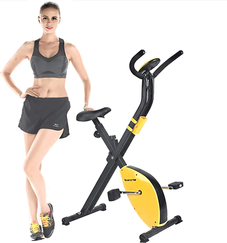 J&Y Bicicleta estática de ciclismo de interior, volante de inercia de 2,5 kg, control magnético, para el hogar cardiovascular, gimnasio con cojín de asiento cómodo, con cesta de almacenamiento