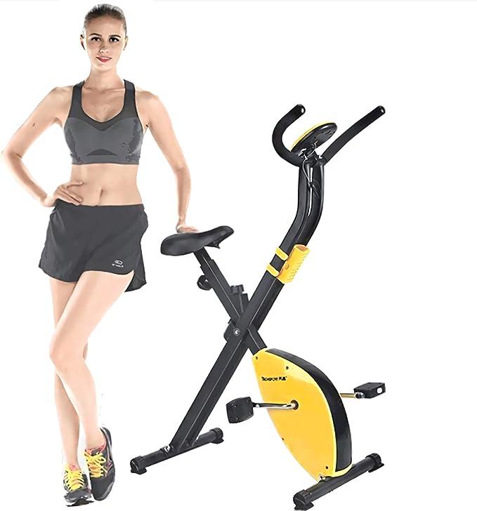 J&Y Bicicleta estática de ciclismo de interior, volante de inercia de 2,5 kg, control magnético, para el hogar cardiovascular, gimnasio con cojín de asiento cómodo, con cesta de almacenamiento: Amazon.es: Hogar