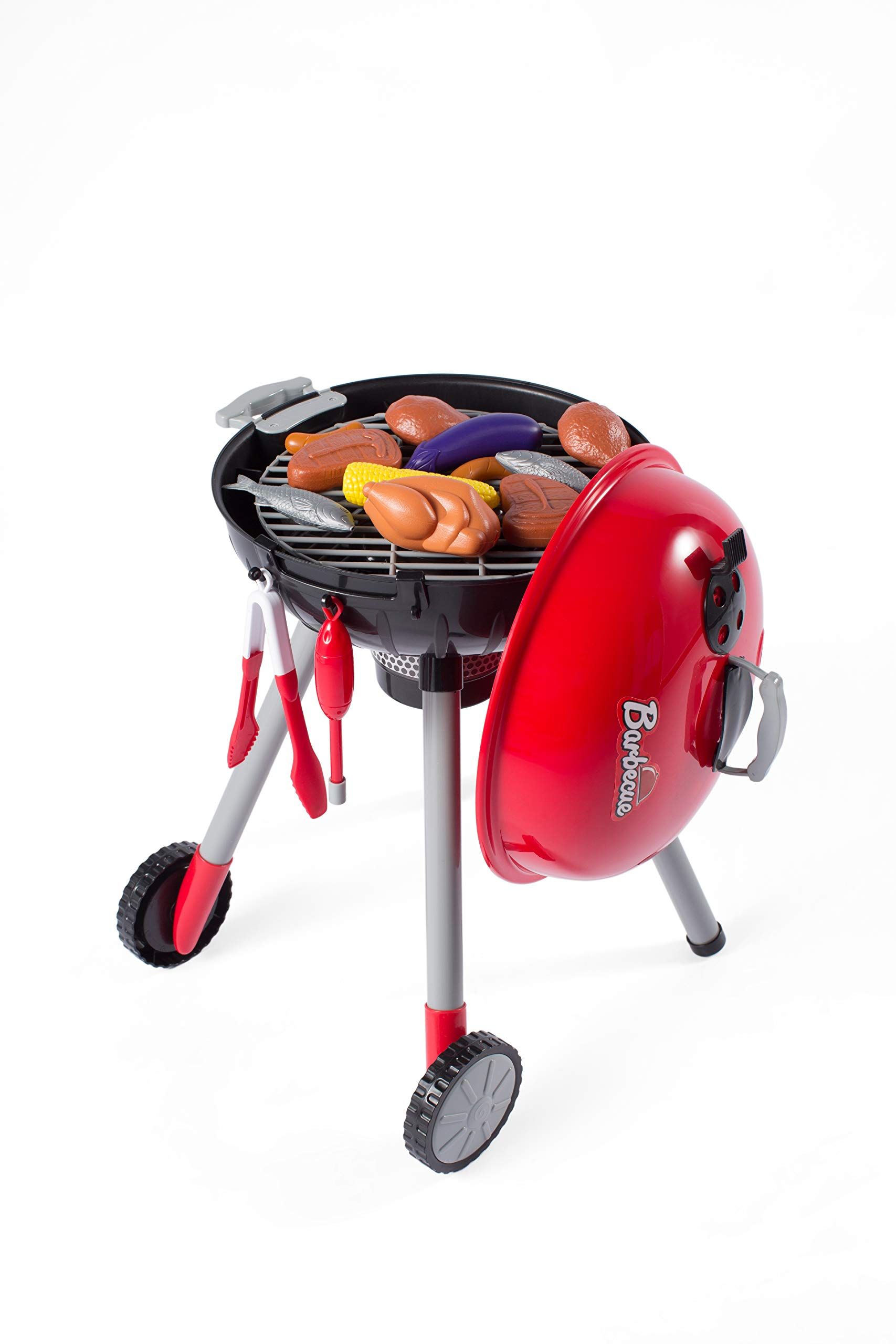 NBD Corp This 8 Piece Backyard Barbeque Get Out 'N Grill Toy Barbeque Grill Set is Great to Have A Realistic Playtime Fun Adventure for Kids and The Whole Family