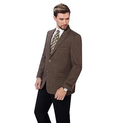 P&L Men's Premium Wool Blend Business Blazer Dress Suit Jacket at Amazon Men's Clothing store