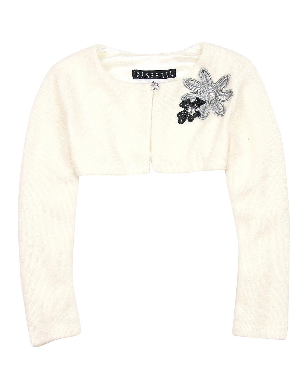 Biscotti Girls' Modern Princess Ivory Knit Shrug, Sizes 7-16