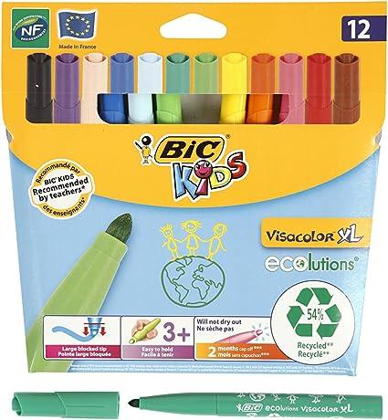 BiC Kids Ecolutions Visa Color XL Felt Pens - Assorted (Pack of 12 ...