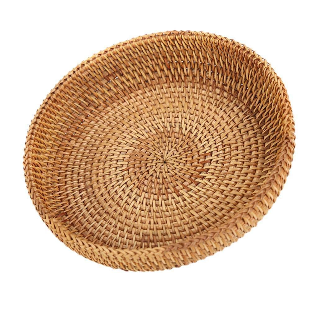 Agordo Round Woven Basket Flower Arrangement Display Fruit Vegetables Container