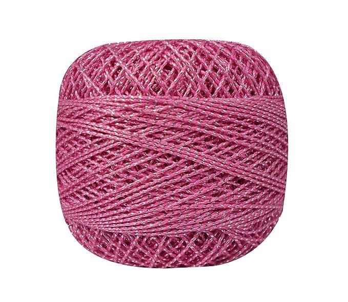 Amazon.com: 10 piezas metálico Multicolor algodón Crochet ...