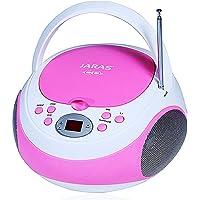 Jaras JJ-Box89 Sport Portable Stereo CD Player with AM/FM Stereo Radio and Headphone Jack Plug