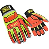 Ringers Gloves R-347 Rescue, Cut and Impact Protection, KevLoc Grip System, Hi-Vis, X-Large