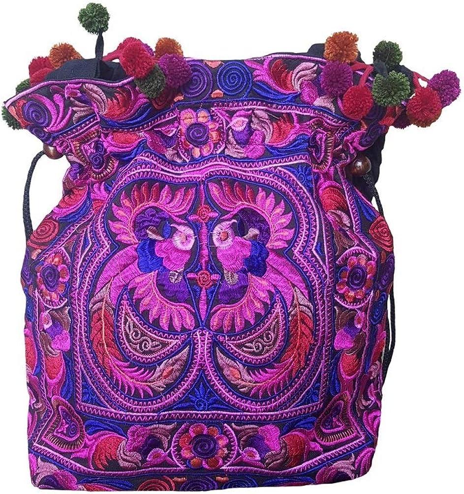 Khadi cotton shoulder bag with tribal details  Handwoven bag