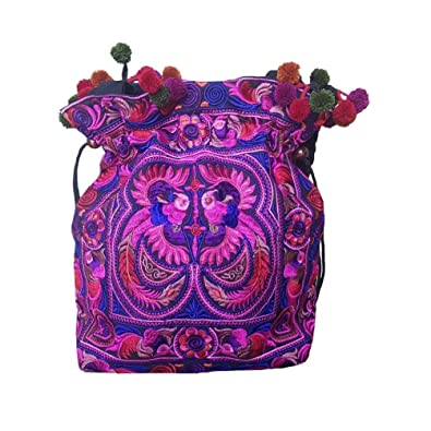 1378a4d6cd Amazon.com  Hmong Tribal Ethnic Thai Indian Vintage Style Embroidered Hobo  Shoulder Bag  Shoes