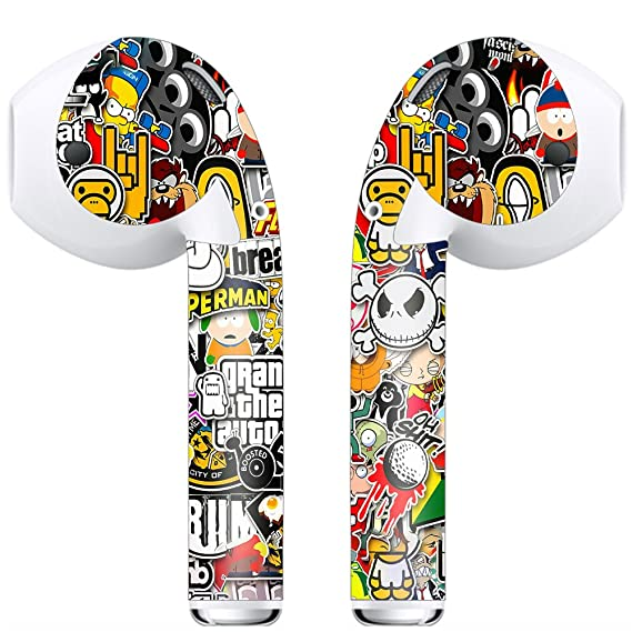 Skin Decal Vinyl Wrap for Apple Airpod Airpods (includes 2 Sets) earbuds  stickers skins cover/ Sticker Slap
