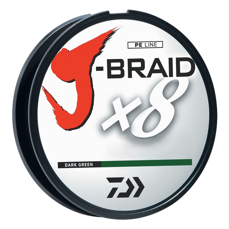 Daiwa J-Braidx8 JB8U120-1500DG 120 lbs Test, Dark Green, 1500 Meters/1650 Yards by Daiwa