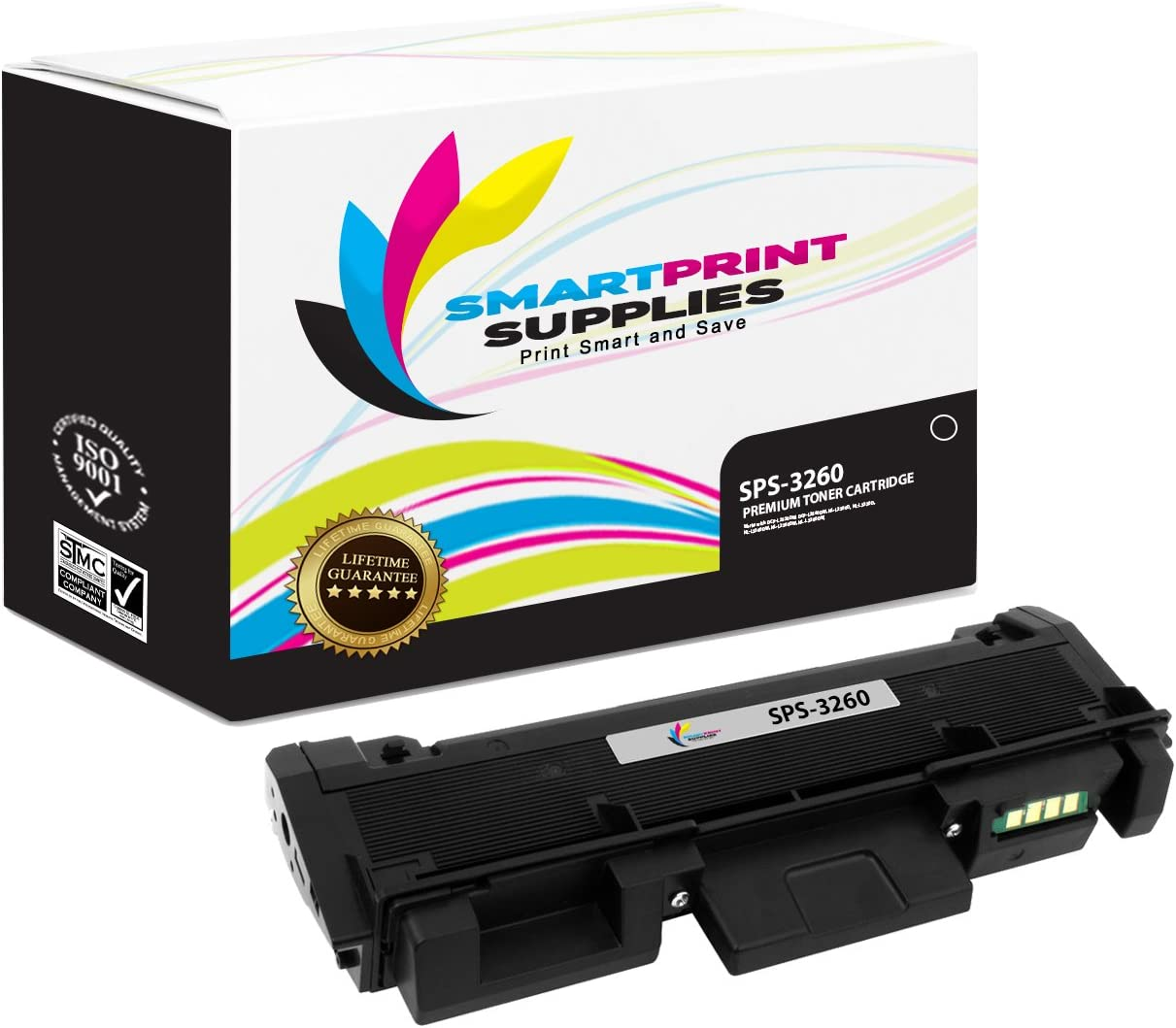 Workcentre 3215 3225 Printers 3,000 Pages Smart Print Supplies Compatible 106R02777 Black Toner Cartridge Replacement for Xerox Phaser 3260