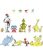 decalmile Wall Decals Quotes Dr Seuss The More That You Read The More You Know Kids Wall Stickers Baby Nursery Childrens Bedroom Classroom Wall Décor