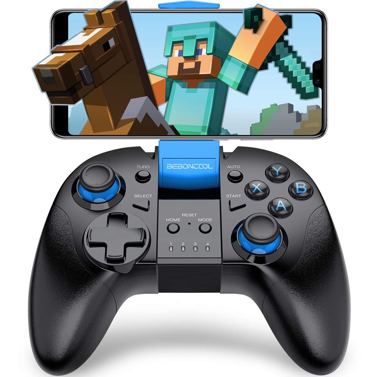 Controller Bluetooth BEBONCOOL con clip per telefono Android / Tablet / TV Box / Gear VR / emulatore (BLU) QiXun Tech B07-B