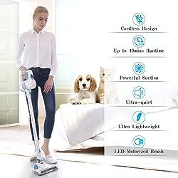 Cordless Vacuum, JASHEN Powerful Stick Vacuum Cleaner