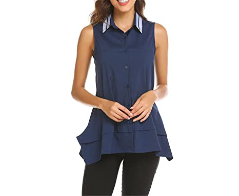 8b6321dd151ea Image Unavailable. Image not available for. Color  Processes Women s Button  Down Shirt Tops Color Block ...