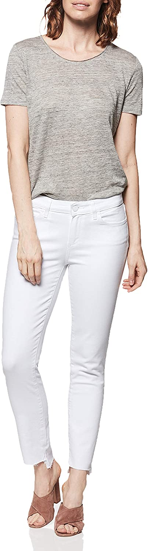 PAIGE Womens Skyline Mid Rise Skinny Fit Jean