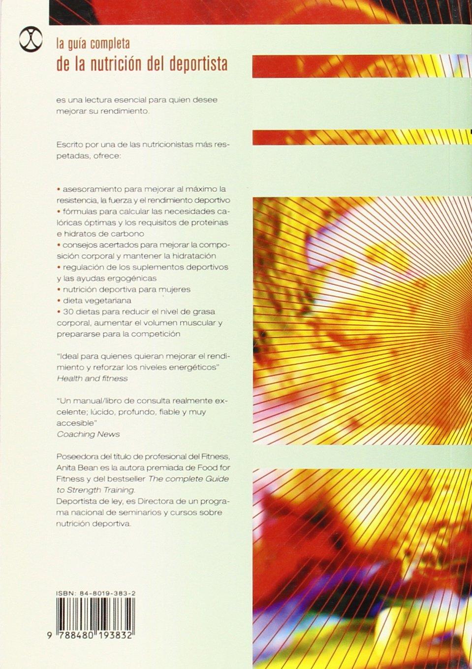 La Guia Completa de La Nutricion del Deportista (Spanish Edition): Anita Bean: 9788480193832: Amazon.com: Books