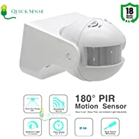 Quick sense 180-Degree Automatic Wall-Mount PIR Motion Switch with Light Sensor (220V, White)