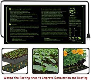 Qianren Seedling Heat Mat Durable Waterproof Warm Hydroponic Heating Pad Digital Thermostat Controller for Seed Germination