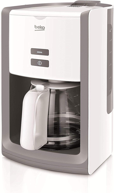 Beko Macchina caff/è Americano CFM6350I con Capacit/à 10 Tazze 1000 W 1.25 Litri Vetro