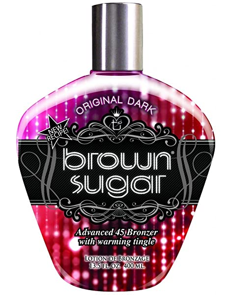 Tan Incorporated - Brown Sugar ORIGINAL DARK Advanced 45 Bronzer with Warming Tingle Tanning Lotion 13.5 oz.