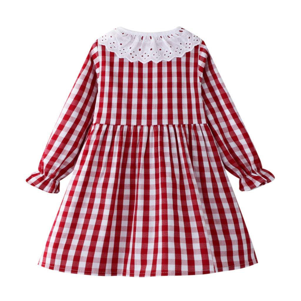 Motif Dessin anim/é Chaink/_1 Robe de Princesse /à Manches Longues en Coton avec col boutonn/é